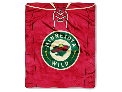Minnesota Wild Raschel 50x60 Stamp Throw