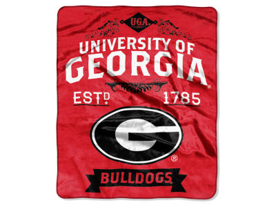 Georgia Bulldogs Raschel 50x60 Rebel Throw