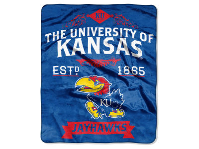 Kansas Jayhawks Raschel 50x60 Rebel Throw
