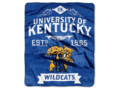 Kentucky Wildcats Raschel 50x60 Rebel Throw