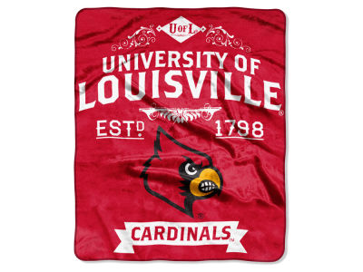 Louisville Cardinals Raschel 50x60 Rebel Throw