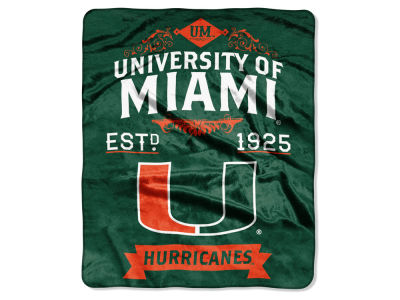 Miami Hurricanes Raschel 50x60 Rebel Throw