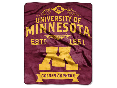 Minnesota Golden Gophers Raschel 50x60 Rebel Throw