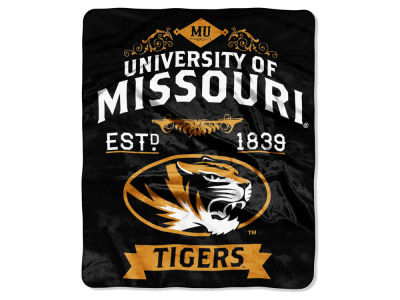 Missouri Tigers Raschel 50x60 Rebel Throw