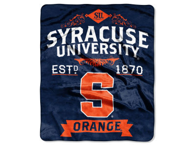 Syracuse Orange Raschel 50x60 Rebel Throw