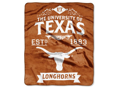 Texas Longhorns Raschel 50x60 Rebel Throw