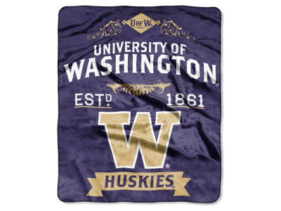 Washington Huskies Raschel 50x60 Rebel Throw