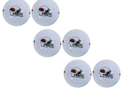 Arizona Cardinals 6pk Team Logo Golf Balls