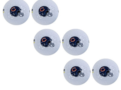 Chicago Bears 6pk Team Logo Golf Balls
