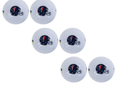 Houston Texans 6pk Team Logo Golf Balls