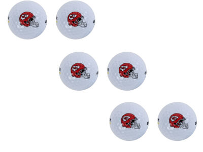 Kansas City Chiefs 6pk Team Logo Golf Balls