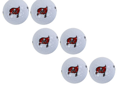Tampa Bay Buccaneers 6pk Team Logo Golf Balls