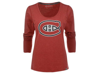 Montreal Canadiens '47 NHL Women's Dash Long Sleeve Scoop T-Shirt