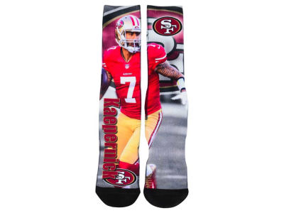 San Francisco 49ers Colin Kaepernick NFL Drive Player Jersey Crew Socks
