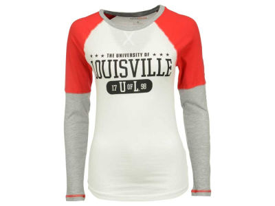 Louisville Cardinals NCAA Womens Block & Tackle Long Sleeve T-Shirt
