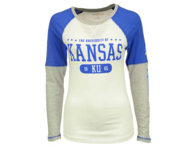 Kansas Jayhawks NCAA Womens Block & Tackle Long Sleeve T-Shirt