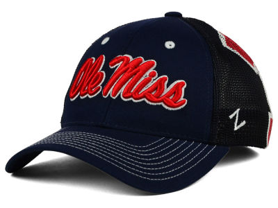 Ole Miss Rebels Zephyr NCAA Screenplay Flex Hat