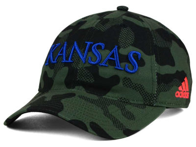 Kansas Jayhawks adidas NCAA Veterans Day Camo Slouch Adjustable Cap