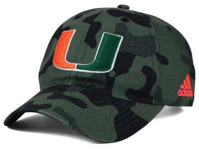 Miami Hurricanes adidas NCAA Veterans Day Camo Slouch Adjustable Cap