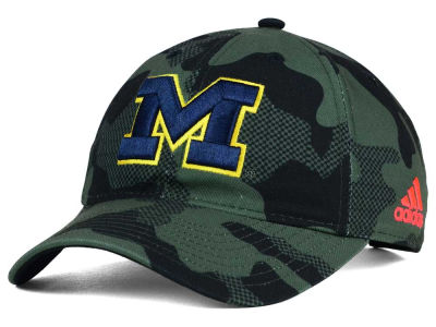 Michigan Wolverines adidas NCAA Veterans Day Camo Slouch Adjustable Cap