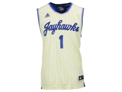 Kansas Jayhawks #1 adidas NCAA Men's Replica Pride Basketball Jersey