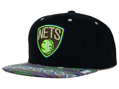 Brooklyn Nets Mitchell and Ness NBA Tribal BW Snapback Cap