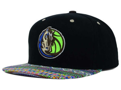 Dallas Mavericks Mitchell and Ness NBA Tribal BW Snapback Cap