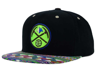 Denver Nuggets Mitchell and Ness NBA Tribal BW Snapback Cap