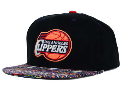 Los Angeles Clippers Mitchell and Ness NBA Tribal BW Snapback Cap