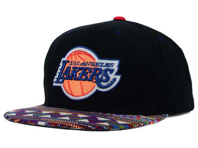 Los Angeles Lakers Mitchell and Ness NBA Tribal BW Snapback Cap