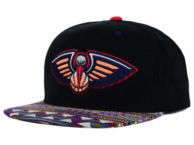 New Orleans Pelicans Mitchell and Ness NBA Tribal BW Snapback Cap