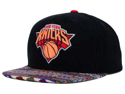 New York Knicks Mitchell and Ness NBA Tribal BW Snapback Cap