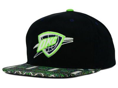 Oklahoma City Thunder Mitchell and Ness NBA Tribal BW Snapback Cap