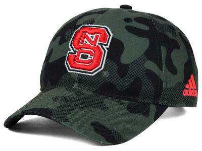 North Carolina State Wolfpack adidas NCAA Veterans Day Camo Slouch Adjustable Cap