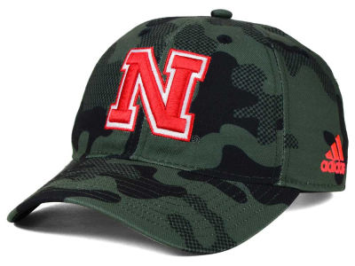 Nebraska Cornhuskers adidas NCAA Veterans Day Camo Slouch Adjustable Cap