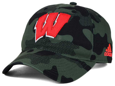 Wisconsin Badgers adidas NCAA Veterans Day Camo Slouch Adjustable Cap