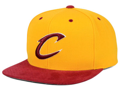 Cleveland Cavaliers Mitchell and Ness NBA 2 Tone Suede Strapback Cap