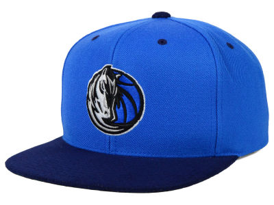Dallas Mavericks Mitchell and Ness NBA 2 Tone Suede Strapback Cap