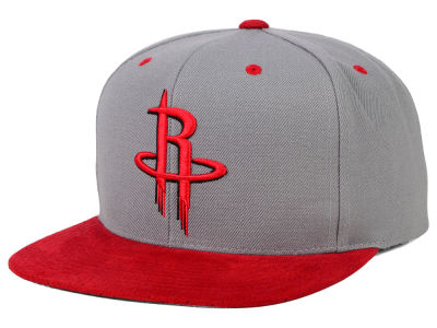Houston Rockets Mitchell and Ness NBA 2 Tone Suede Strapback Cap