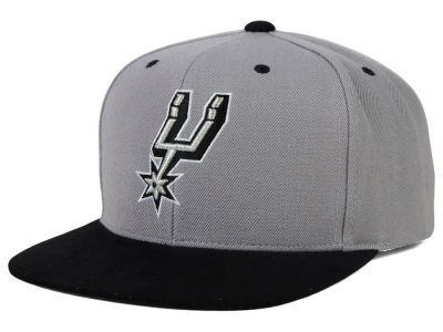 San Antonio Spurs Mitchell and Ness NBA 2 Tone Suede Strapback Cap