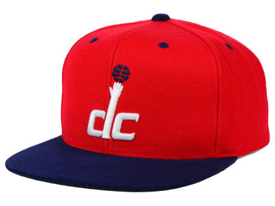 Washington Wizards Mitchell and Ness NBA 2 Tone Suede Strapback Cap