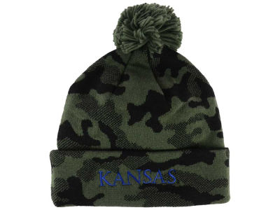 Kansas Jayhawks adidas NCAA Veterans Day Camo Knit