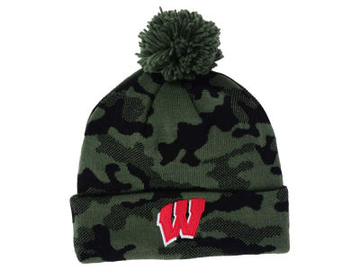 Wisconsin Badgers adidas NCAA Veterans Day Camo Knit