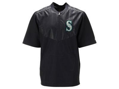 Seattle Mariners Majestic MLB Men's AC Short Sleeve Training Jacket