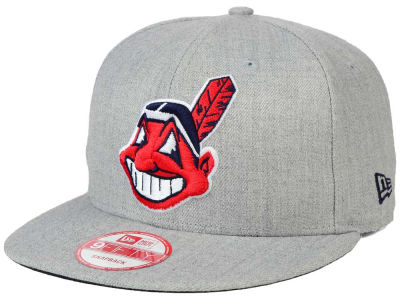 Cleveland Indians New Era MLB Heather Team Color 9FIFTY Snapback Cap
