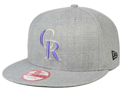 Colorado Rockies New Era MLB Heather Team Color 9FIFTY Snapback Cap