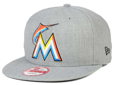 Miami Marlins New Era MLB Heather Team Color 9FIFTY Snapback Cap