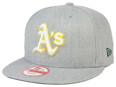 Oakland Athletics New Era MLB Heather Team Color 9FIFTY Snapback Cap