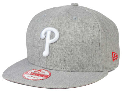 Philadelphia Phillies New Era MLB Heather Team Color 9FIFTY Snapback Cap