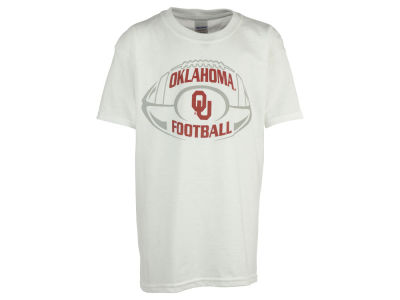 Oklahoma Sooners NCAA Youth Football Outline T-Shirt